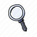 glass, magnifying, search