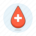 blood, bloodbank, cross, donation, drop, health, white icon