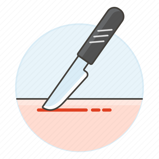 bistoury, cuts, health, incision, intervention, knife, medical, scalpel, skin, surgery icon