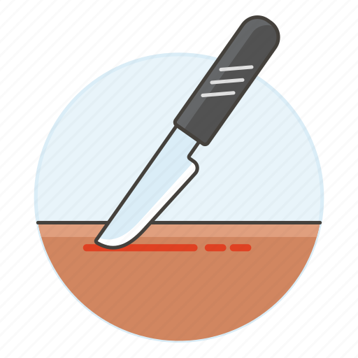 2, bistoury, cuts, health, incision, intervention, knife, medical, scalpel, skin, surgery icon