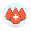 blood, bloodbank, cross, donation, drop, drops, health, white icon