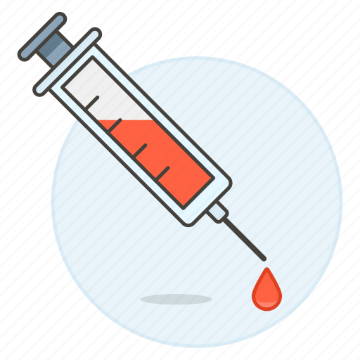 blood, count, exam, extraction, health, lood, sample, syringe, test icon