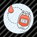 bag, blood, dialysis, drop, health, pint, plastig, supply, surgery icon
