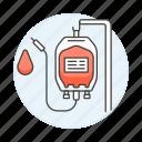 blood, donation, health, iv, pint, plastig, supply, surgery, transfusion icon