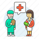 doctor, fee, health, medical, patient, personnel, service, surgeon icon