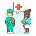 service, health, patient, doctor, surgeon, personnel, fee, medical icon