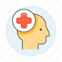 case, cross, head, health, history, human, information, medical, patient, red icon