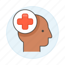 2, case, cross, head, health, history, human, information, medical, patient, red icon