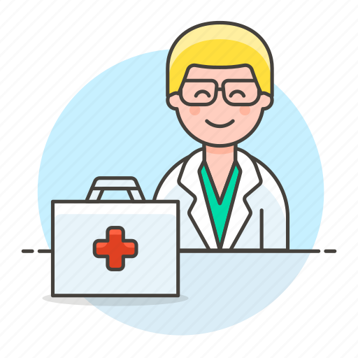 1, aid, doctor, first, health, kit, male, medical, personnel, physician, practitioner icon