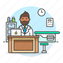 care, consulting, doctor, health, medical, medicine, personnel, physician, practitioner, room icon
