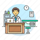 doctor, practitioner, care, physician, medicine, room, health, medical, personnel, consulting icon