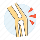 2, articulation, bone, health, inflammation, injuries, joint, knee, osteoarthritis, pain icon