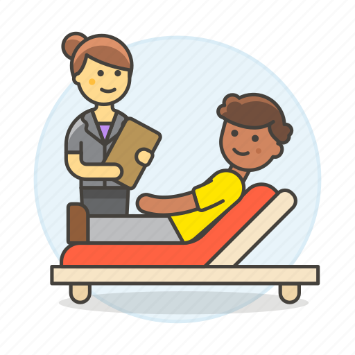 1, couch, divan, exam, health, patient, psychiatry, psychological, psycologist, session, sofa, therapy icon