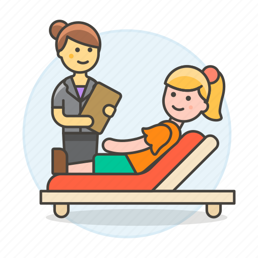 2, couch, divan, exam, health, patient, psychiatry, psychological, psycologist, session, sofa, therapy icon
