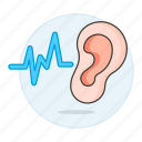audition, auditory, auricle, ear, health, hear, hearing, listen, outer, signal, sound, system, wave