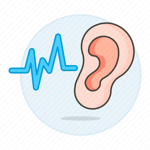audition, auditory, auricle, ear, health, hear, hearing, listen, outer, signal, sound, system, wave icon