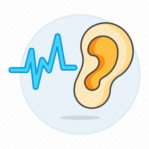 1, audition, auditory, auricle, ear, health, hear, hearing, listen, outer, signal, sound, system, wave icon