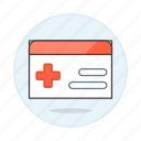 access, benefits, card, health, insurance, medical, services, treatment icon