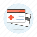 1, access, benefits, card, health, insurance, medical, services, treatment icon