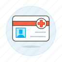 access, benefits, card, health, id, insurance, medical, services, treatment icon