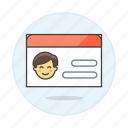 access, benefits, card, health, id, insurance, male, medical, services, treatment icon