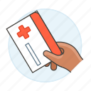 2, benefits, card, hand, health, hold, insurance, medical, services, treatment icon