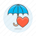 care, health, heart, insurance, medical, payment, policy, services, umbrella icon