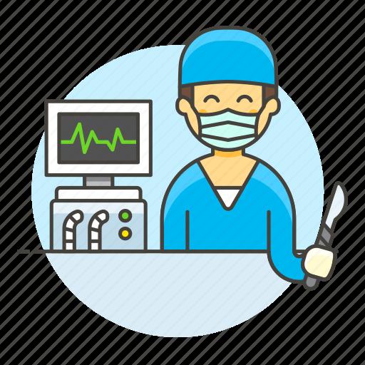 2, ecg, eeg, egk, ekg, health, male, monitor, patient, pulse, signal, surgeon, surgery, vital, wave icon
