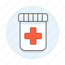 bottle, capsule, drug, health, medicine, pharmacology, pill, tablet icon