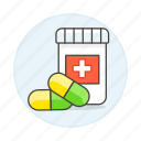 1, bottle, capsule, drug, health, medicine, pharmacology, pill, tablet icon
