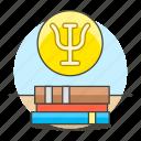 books, capital, greek, health, learning, letter, psi, psychiatry, psychology, treatise, treaty icon