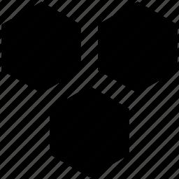 geometric pattern, hexagon shape, hexagonal pattern, hexagone, honeycomb pattern icon