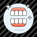 clean, dental, dentistry, health, hygiene, oral, teeth, tooth, white icon