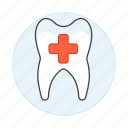 care, dental, dentistry, diagnosis, health, medicine, oral, stomatology, surgery, tooth icon