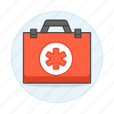 aid, box, emergency, equipment, first, health, healthcare, kit, medical, supplies icon