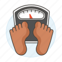 1, check, diet, dietitics, health, measure, scale, weigh, weight icon