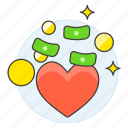 cash, charity, crowdfunding, donation, health, heart, money, pack, solidarity icon