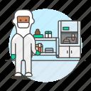 glassware, protective, tube, laboratorist, health, scientist, lab, laboratory, femalehealth, test icon