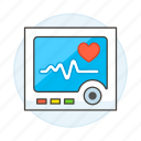 ecg, egk, ekg, electrocardiogram, electrocardiograph, examination, health, machine, monitor, monitoring icon