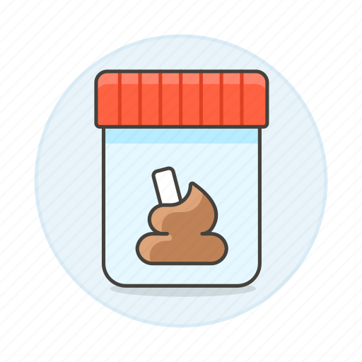1, container, excrement, fecal, feces, health, laboratory, matter, poop, sample, shit, stool, test icon