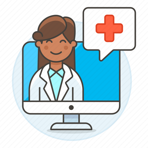 2, app, clinic, doctor, female, health, information, medical, online, ppointment, softwarea icon