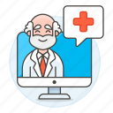 app, clinic, doctor, health, information, male, medical, online, ppointment, softwarea icon