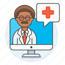 2, app, clinic, doctor, health, information, male, medical, online, ppointment, softwarea icon