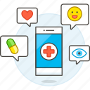 1, app, appointment, health, information, medical, medicine, online, phone, purchase, schedule icon