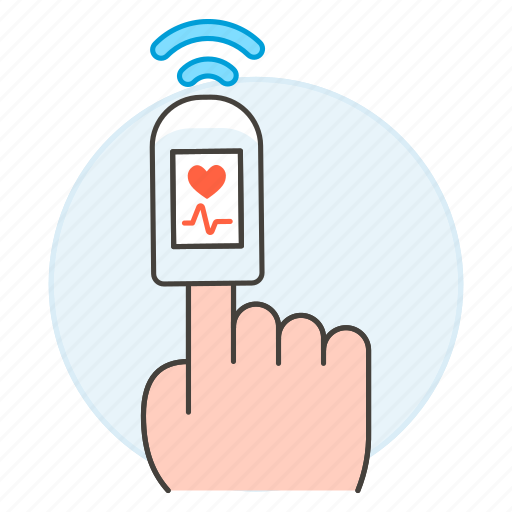 examination, finger, health, heart, monitoring, oximeter, oxygen, pulse, rate, saturation icon
