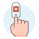 examination, finger, hand, health, heart, monitoring, oximeter, oxygen, pulse, rate, saturation icon