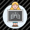 examination, female, health, imaging, medical, monitoring, radiation, radiography, ray, ribs icon