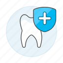 care, dental, dentistry, health, healthy, plus, preventive, protection, shield, sign, tooth, treatment