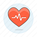 ecg, ekg, electrocardiogram, health, healthcare, heart, pulse, signal icon