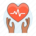 1, ecg, ekg, electrocardiogram, hand, health, healthcare, heart, pulse, signal icon